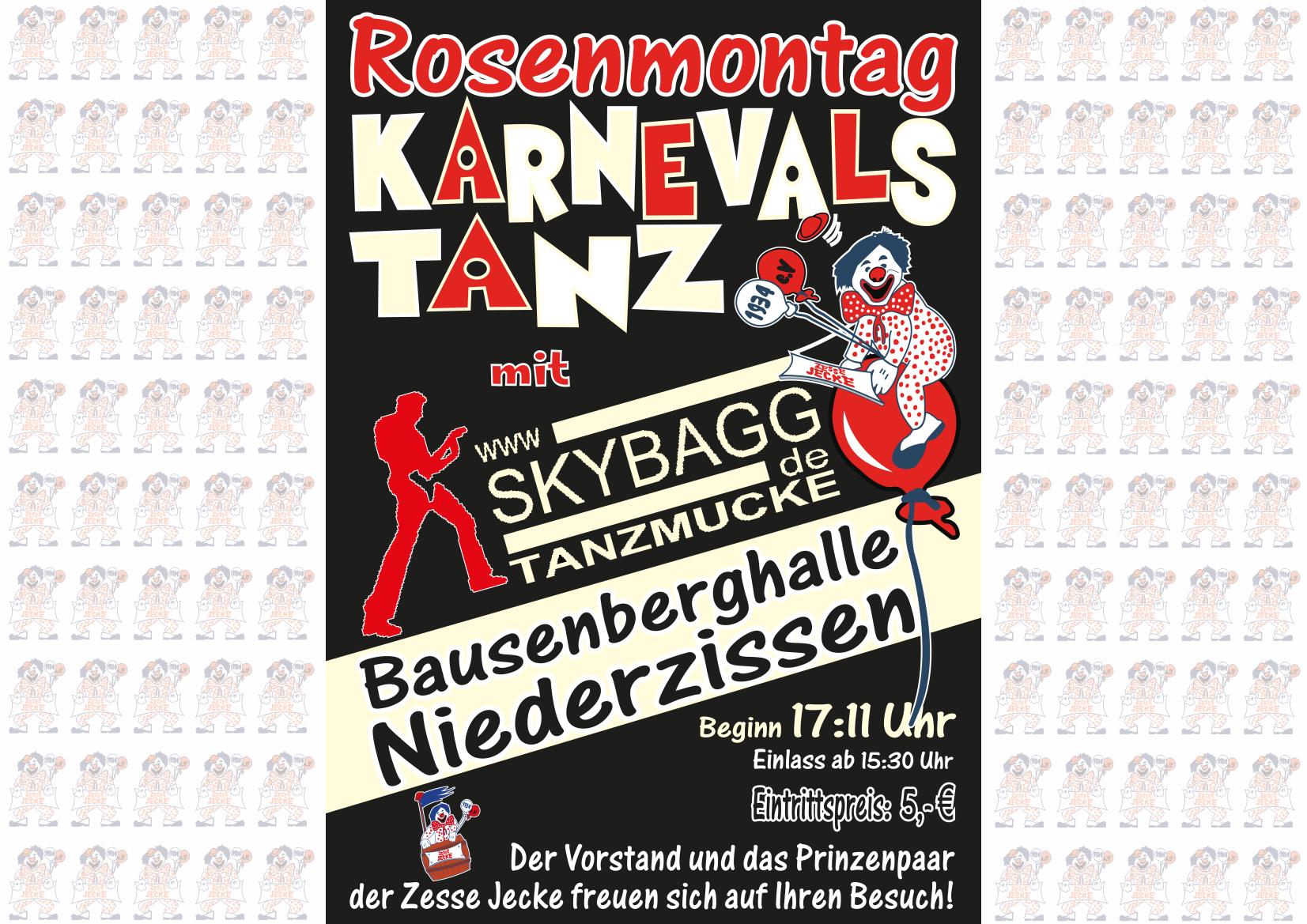 Plakat Rosenmontag